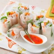 Thai turkey spring rolls photo