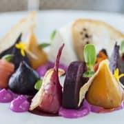 Organic beetroot salad photo