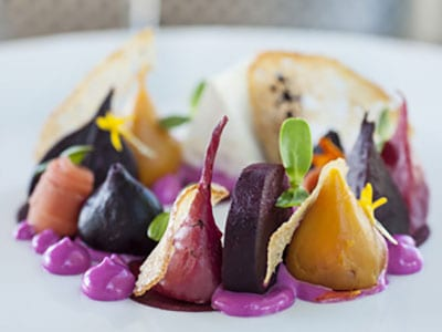 Organic beetroot salad photo